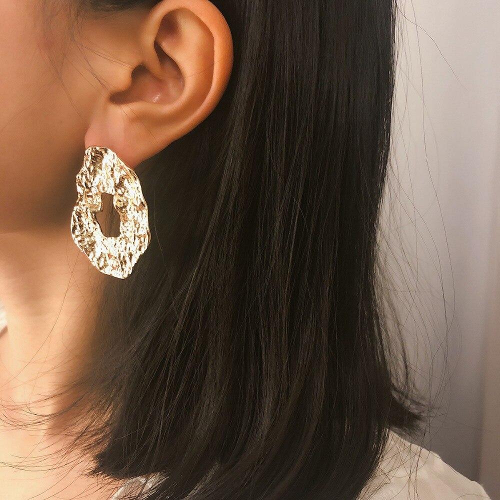 OLOEY Retro Metal Earrings Women 39 s Geometric Irregular Drop Earrings Jewelry Female Ladies Accessories Gifts Boho Earring Gifts in Drop Earrings from Jewelry amp Accessories