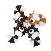 Creative Chiwei Bear Plush Pendant Backpack Hanging Fur Car Keychain Long Tail Doll Fashion Big Girl Gift