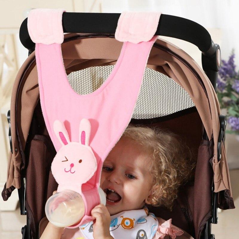 Infrant Newborn Baby Bottle Holder For Hands Free Bottle Feeding Stroller Accessories Feeding Bottle Plush Pouch Cover Sling New