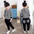 Большой размер 4-15 лет девочки, одежда спортивный костюм мультфильм комплект одежды детская одежда новорожденных девочек мальчиков chidlren одежда