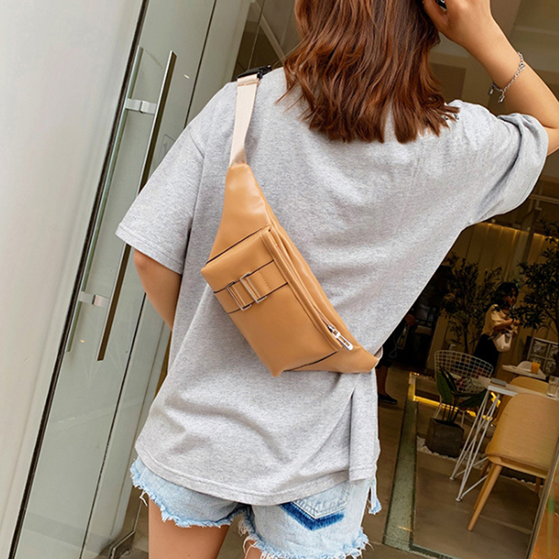 Fashion Small Bag New Zipper Handbag Yellow Shoulder Messenger Pocket Crossbody Bags For Women Men(China)