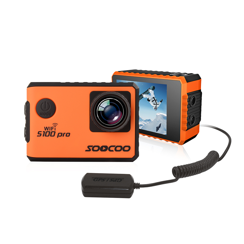 Action camera deportiva SOOCOO S100 pro Novatek 96660 <font><b>IMX078</b></font> remote Ultra HD 4K WiFi waterproof with GPS remote 2.0