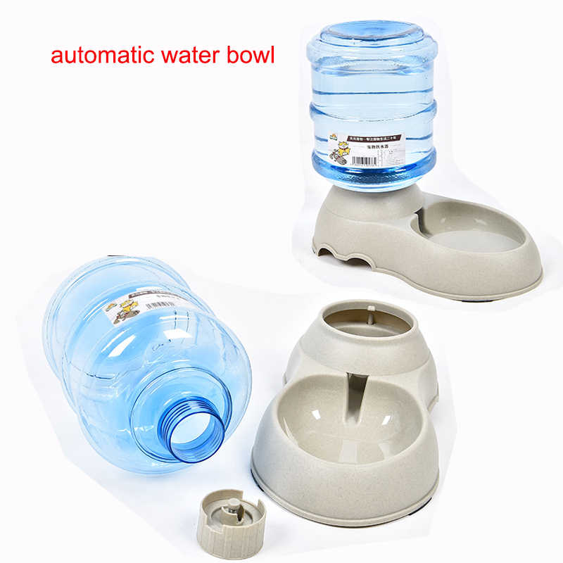 3 5L Large Automatic Pet Feeder Drinking Fountain For Cats Dogs  Environmental Plastic Dog Food Bowl Pets Water Dispenser