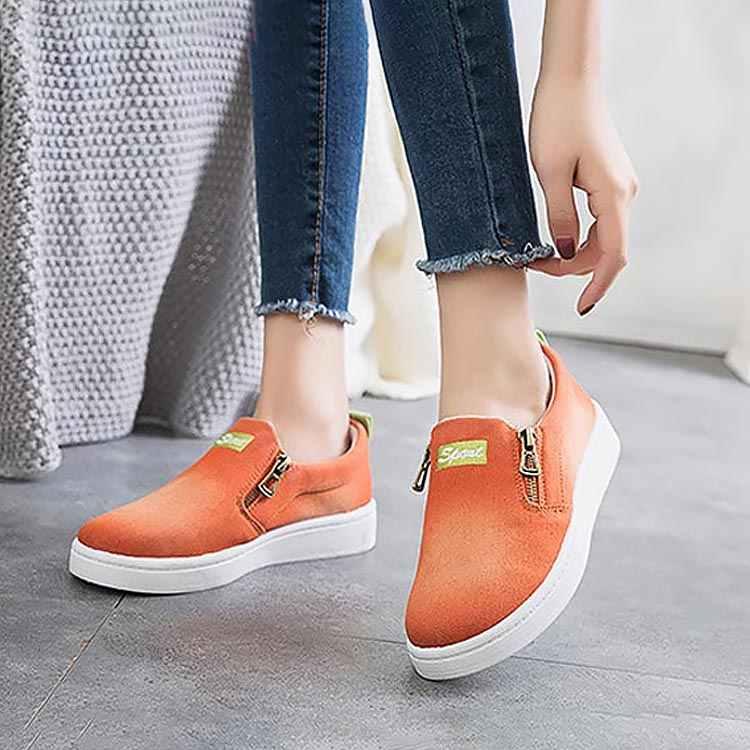 รองเท้าผู้หญิง 2019 ใหม่มาถึงแฟชั่นผู้หญิง denim casual รองเท้า femme tenis feminino zip รองเท้าผ้าใบรองเท้าผู้หญิงรองเท้าผ้าใบขนาด plus