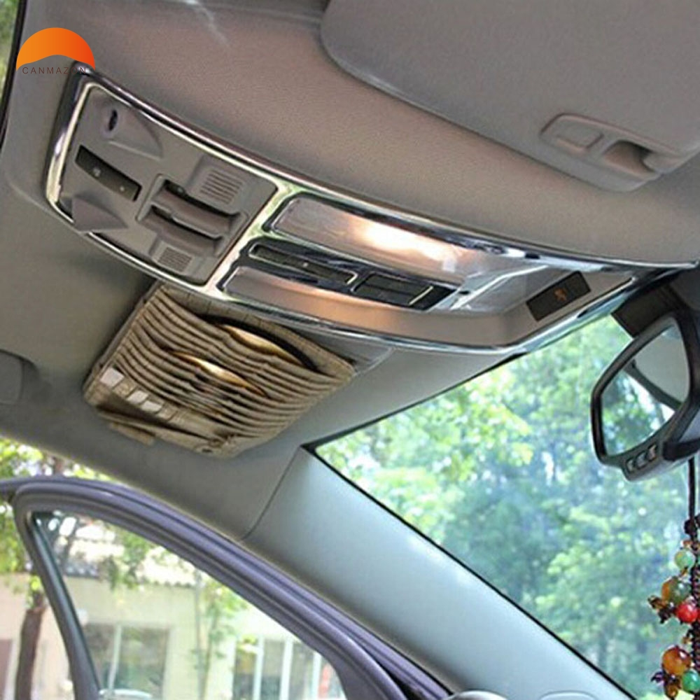For Cadillac SRX 2012 2013 2014 Steel Car Reading Light Cover trim decoration strips Interior roof