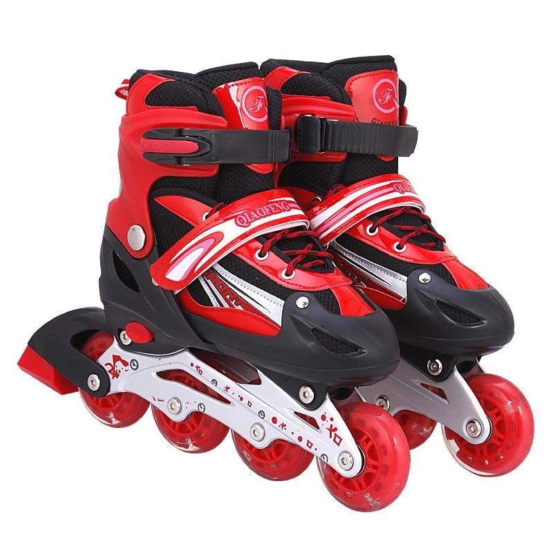 Boy Girl Children Inline Skates Skating Shoes Adjustable Breathable Skates Shoes Patines 3 Color
