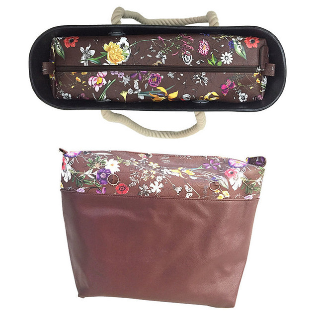 inner bag classic size for obag red flower inserts and inner bag handles for obag big size