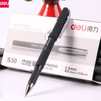 Deli 12pcs 0 5mm Gel Pen Classic Business Writing Ink Pen Stationery Office School Supplies