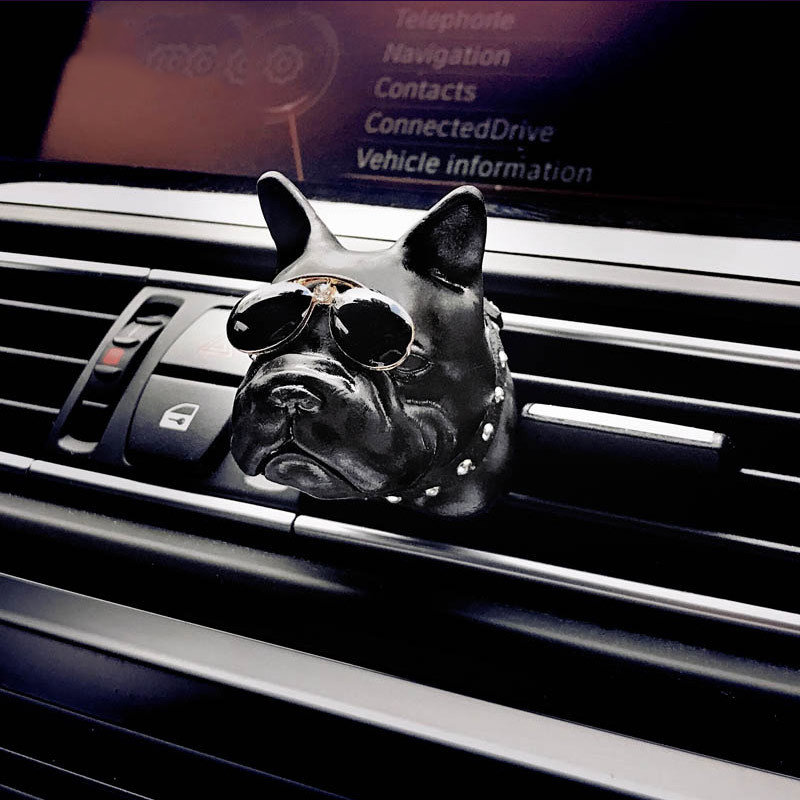 Bulldog Car Air Freshener perfume Automobile Interior Perfume Clip Fragrance Decoration Bull Dog Ornaments Car Accessories in Air Freshener from Automobiles Motorcycles
