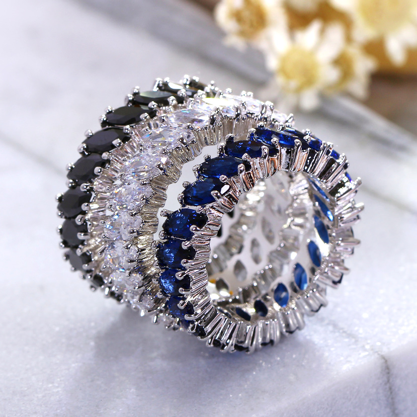 Colorful Stone Hot Style Blue Black Red Green Stones CZ Zircs