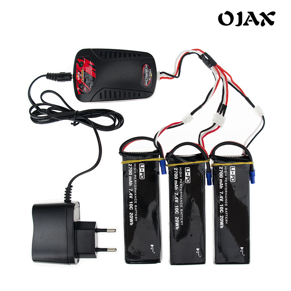 ФОТО Hubsan H501S Original 7.4V 2700mAh lipo battery 10C battery With Charger Set For Hubsan H501C RC Quadcopter Drone Parts