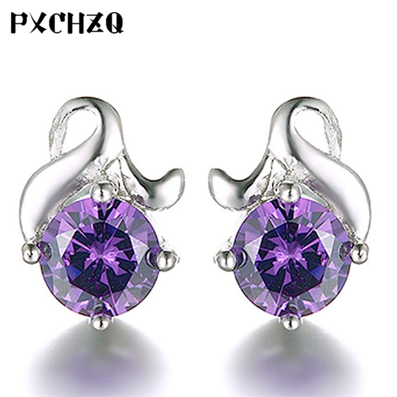 Ms. New simple fashion upscale crystal ear princess temperament beautiful flower earrings silver plated jewelry gifts