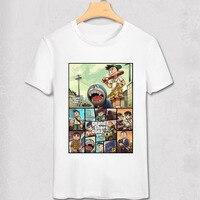 GTA 5 Ps4 Xbox Game T Shirt Handheld Game Shirt Creative Funny Design Doraemon T Shirt