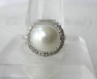 2246 round white south sea pearl ring
