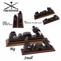Solid wood brown lacquer Wall Mount Samurai Sword Katana Holder Stand Hanger Bracket Rack Display