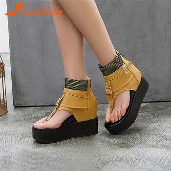 Verano Para Planas Jianbudansandalias Mujer Zapatos De Informales fybg7Y6