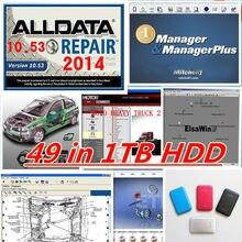Alldata ve mit-chell yazılımı alldata mit-chell ondemand + ATSG + vivid atölye + ELSAwin + ağır kamyon 1tb hdd 49in1 onarım verileri