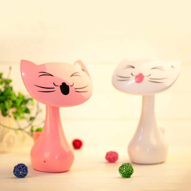 Civets led table lamp colorful cartoon brief charge primary school students child table lamp