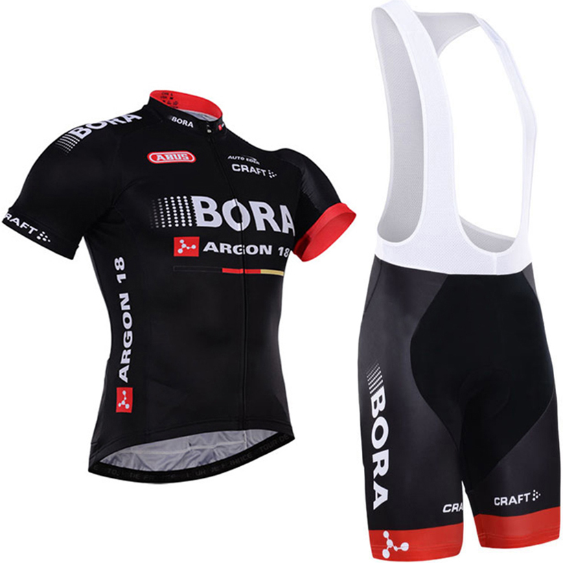 2018 TEAM BORA Cycling jersey gel bike shorts set SOBYCLE Ropa Ciclismo mens summer quick-dry PRO BICYCLING wear Maillot Culotte