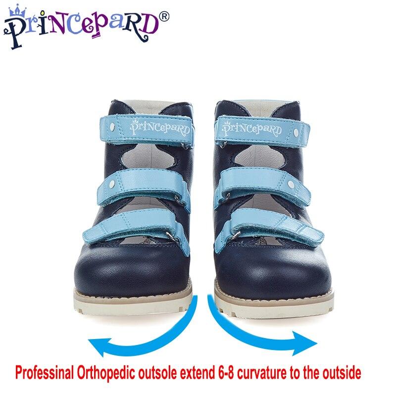 2018 Princepard estate scarpe ortopediche per i ragazzi di formato 20-36 genuino tomaia in pelle fodera in pelle di cinghiale professinal Ortopedico suole
