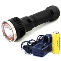 5000 lümen xml-l2 led dalış el feneri led dalış torch fener su geçirmez 100 m dalgıç flaş işık lambası kullanımı 26650 saldırı-kafa