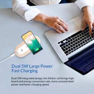 Image 3 - ORICO 10W הכפול מטען אלחוטי Qi טעינה מהירה כרית תואם עבור iPhone 11 פרו Xs מקסימום X Xr 8 אינדוקציה מהיר אלחוטי טעינה