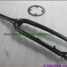 Изготовленный На Заказ титановый велосипед вилка с коническая кисть с бортовым поворотом, xacd titanium дорога передняя вилка, Китай(материк) titanium lade frames' вилка