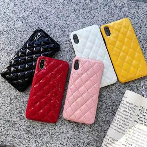 COOKZU Fashion Small Fragrance Phone Case for iphone XR XS MAX 7 8 6S 6 plus PU Leather