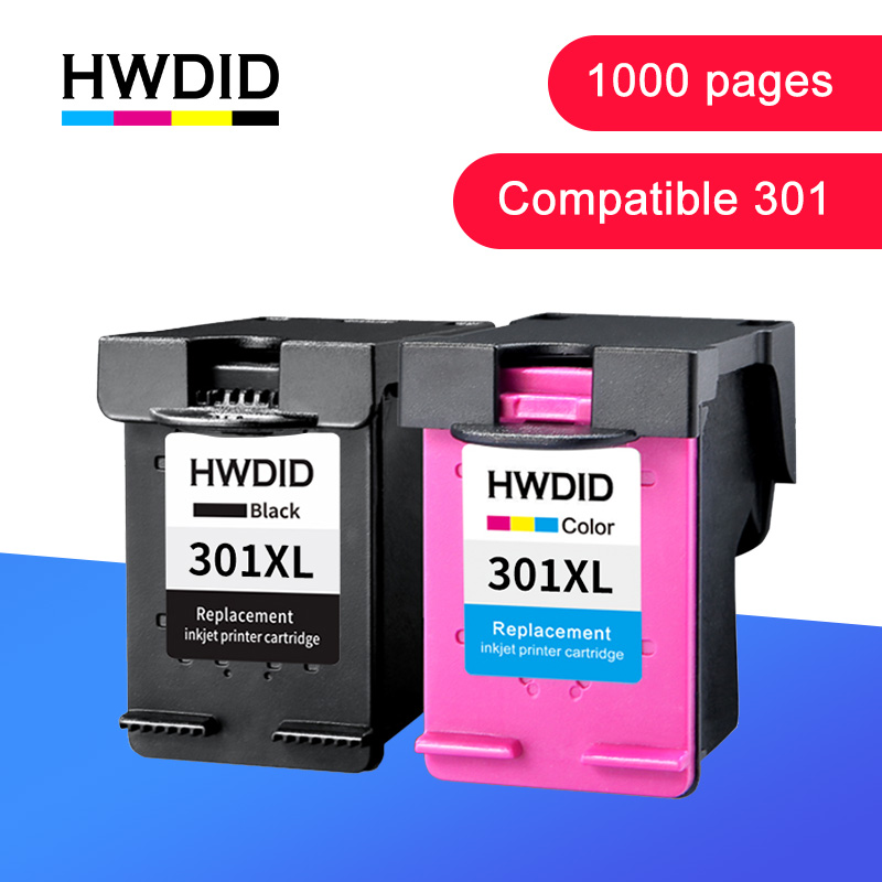 HWDID 301XL Refill Ink Cartridge Replacement for <font><b>hp</b></font>/<font><b>HP</b></font> <font><b>301</b></font> for <font><b>hp</b></font>/HP301 for Deskjet 1000 1050 2000 2050 2510 3000 3054 printer image