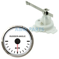 KUS Boat Rudder Angle Indicator Gauge 12V 24V With Marine Outboard Rudder Sensor 0-190ohms 52mm