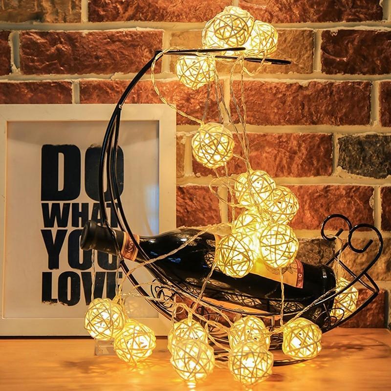 20 Led-string-ball Lichter Luces Led Dekoration Licht Batterie Powered Fee Beleuchtung Für Garten, Weihnachten Dekoration Beleuchtung üBerlegene Materialien