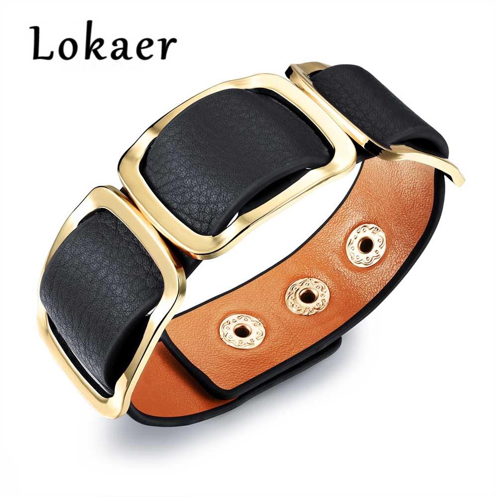 Lokaer Original Design Leather Wrap Bracelets Bangle For Women Black Orange Leopard  Print Color Leather Bracelet Jewelry LPH1004 a6b896c1e