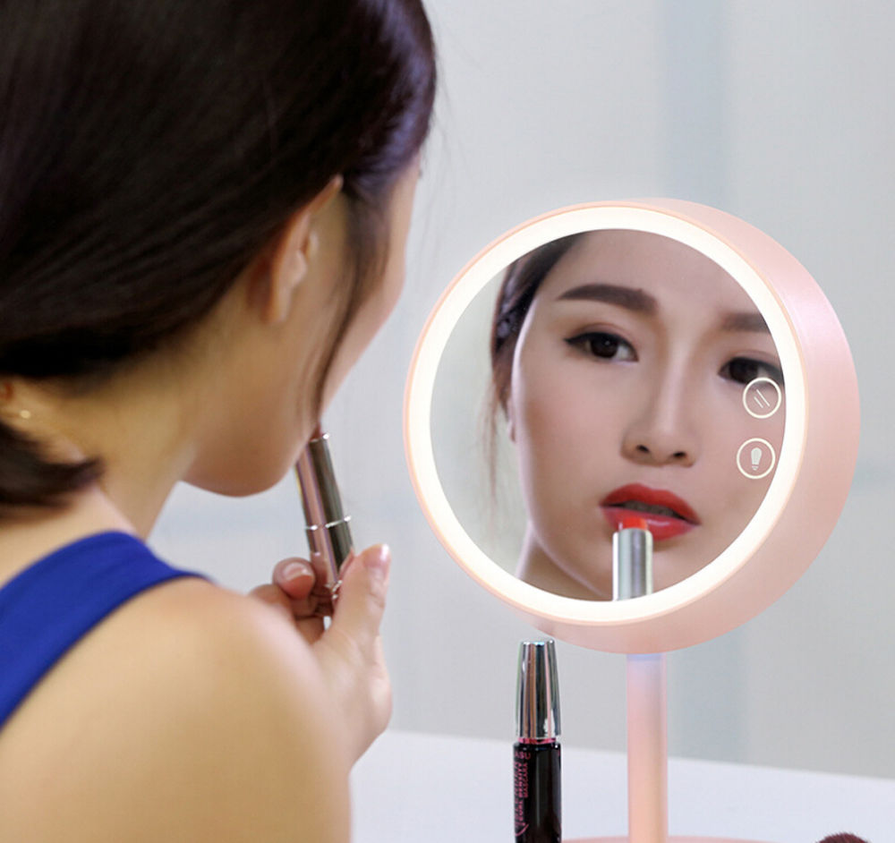 3 In 1 Led Touch Screen Vanity Makeup Mirror With Led