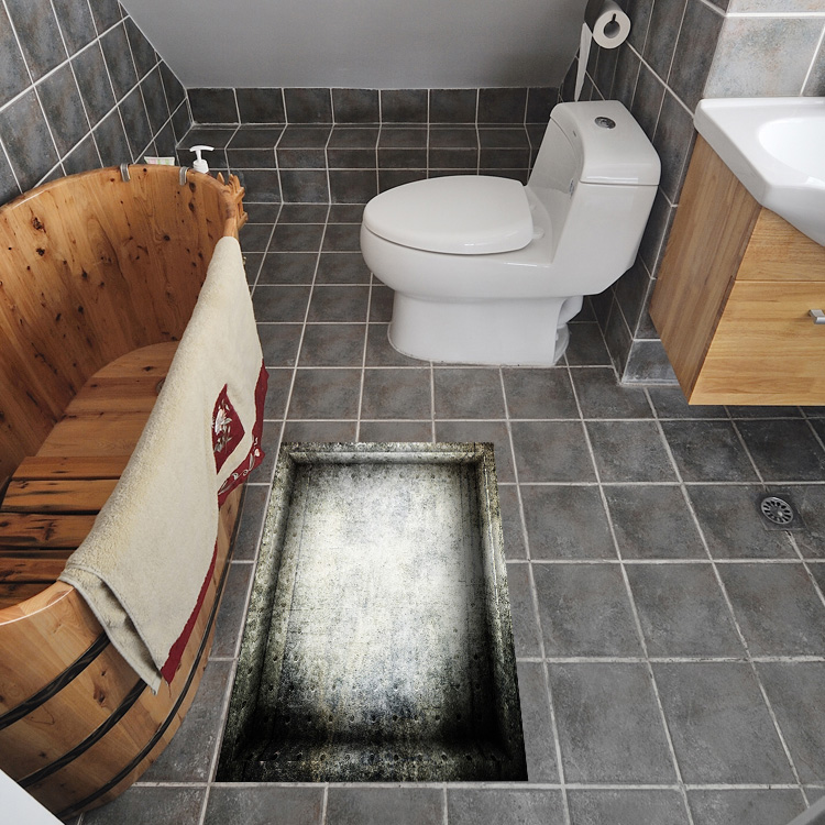 Can I Paint Bathroom Floor Tiles: 3D Anti Skid Stickers Bathmats Waterproof Stickers Kitchen