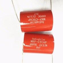 10 pcs MKP kondensotor MKP 10 uF 400 v Tubular אודי קבלים