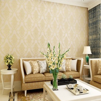 3D Stereo Relief Nonwovens Refined Damascus Wallpaper Bedroom Living Room TV Background Wall European Wallpaper
