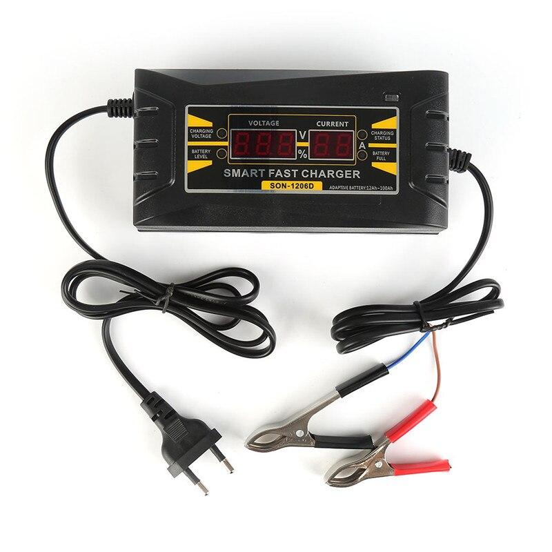 Automatico pieno 6A 12 V Caricabatteria Per Auto 110 V a 220 V Intelligente Potenza di Ricarica veloce Asciutto Bagnato Al Piombo Digital Display LCD NUOVO