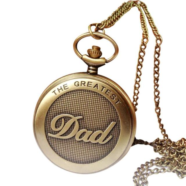 2017 Hot Sale Vintage Chain Retro The Greatest Pocket Watch Necklace For Grandpa