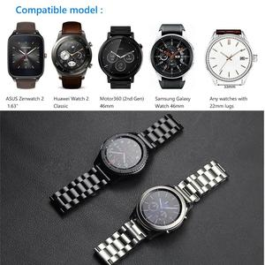 Image 5 - מתכת רצועת עבור Samsung הילוך S3 Frontier band smartwatch נירוסטה צמיד Huawei שעון GT 2 רצועת גלקסי שעון 46mm S 3