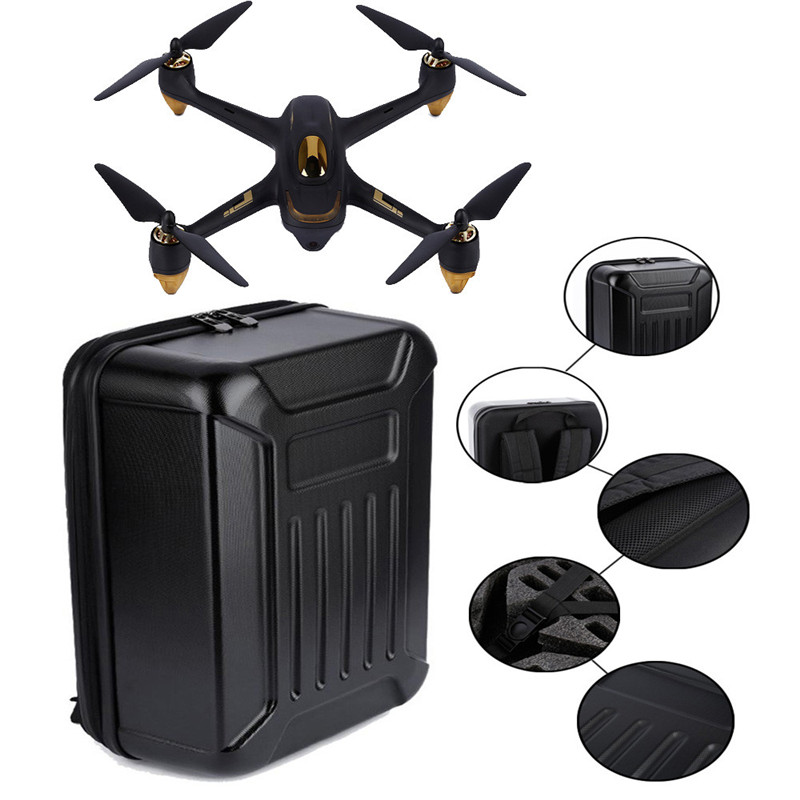 Black ABS Hard Shell Backpack Case Bag for Hubsan X4 H501S Quadcopter Helicopter Accessories Dropshipping Free Shipping M24 rubberized hard shell case w ribbed design holster