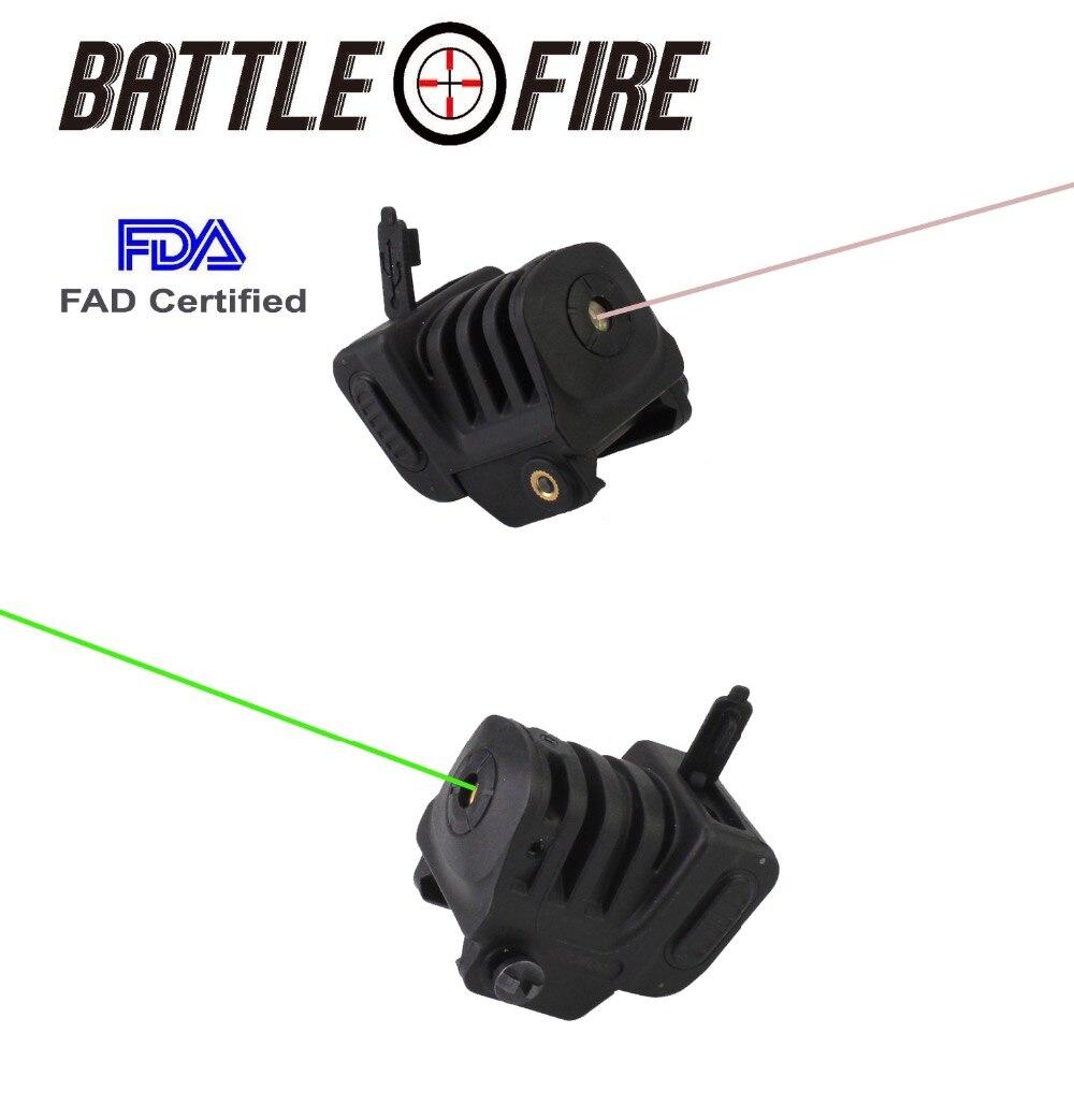 FDA Tactique Micro Compact Rechargeable IR ROUGE VERT Viseurs Laser pour Pistolet Pistolet Glock 17 gun chasse vue