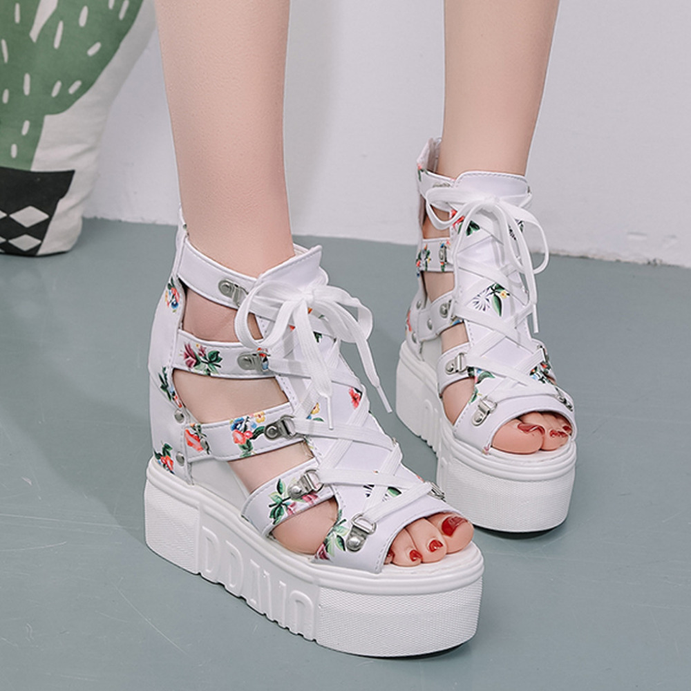 Wedges Shoes Woman 2019 Zapatos De Mujer Summer Women s High Heel Platform Sandals Brand New Innrech Market.com