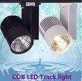DHL 10 PCS LEVOU Luz Pista 30 W COB Light Rail Spotlight Lâmpada Substituir 300 W Lâmpada Halógena de 110 v 120 v 220 v 230 v 240 v