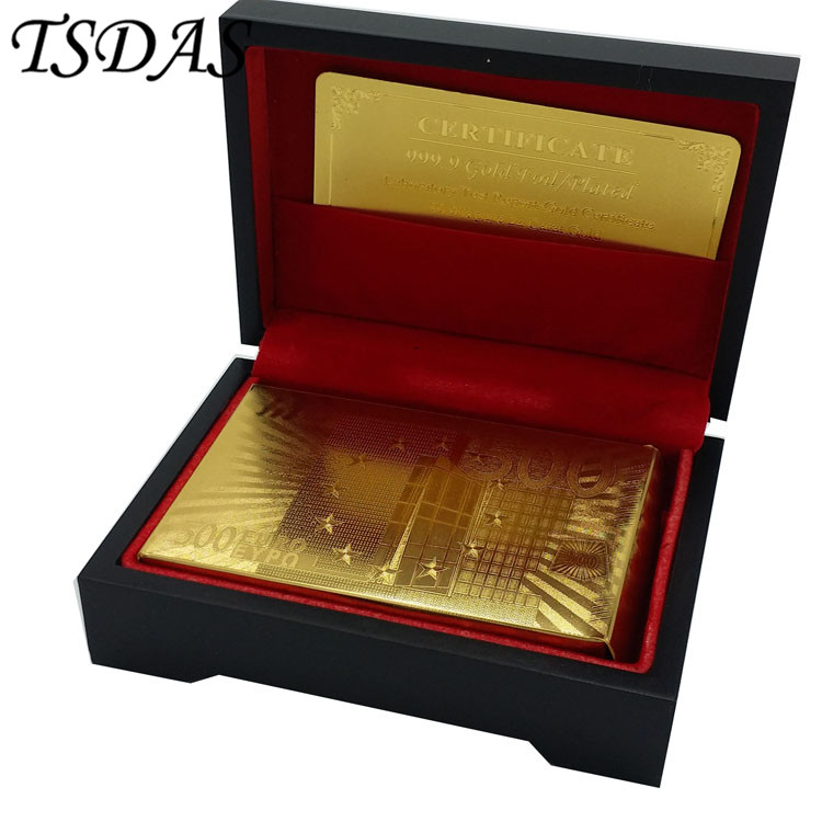gold customized playing card low price 500 euro 24k gold