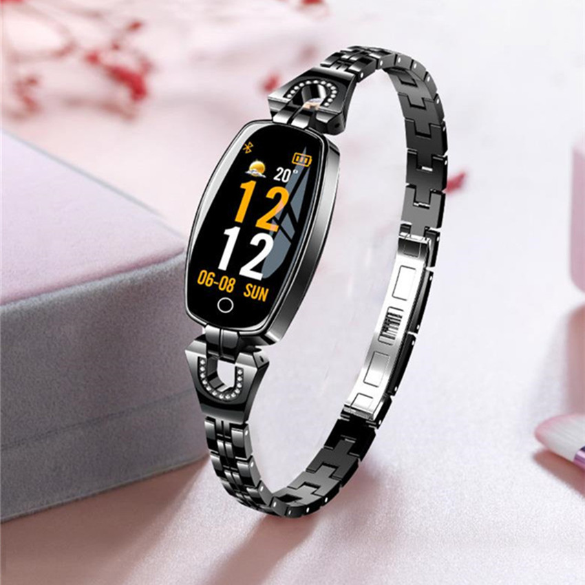 Image 5 - ASKMEER H8 Women Smart Watch Fitness Bracelet Sport Waterproof Heart Rate Monitor Bluetooth For IOS Android Smartwatch Girl Gift-in Smart Watches from Consumer Electronics