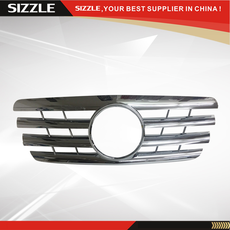 Plastic All Chrome Front <font><b>Grille</b></font> Auto <font><b>Grille</b></font> For <font><b>Mercedes</b></font> <font><b>W210</b></font> E-Class 2000-2002 CL Style image