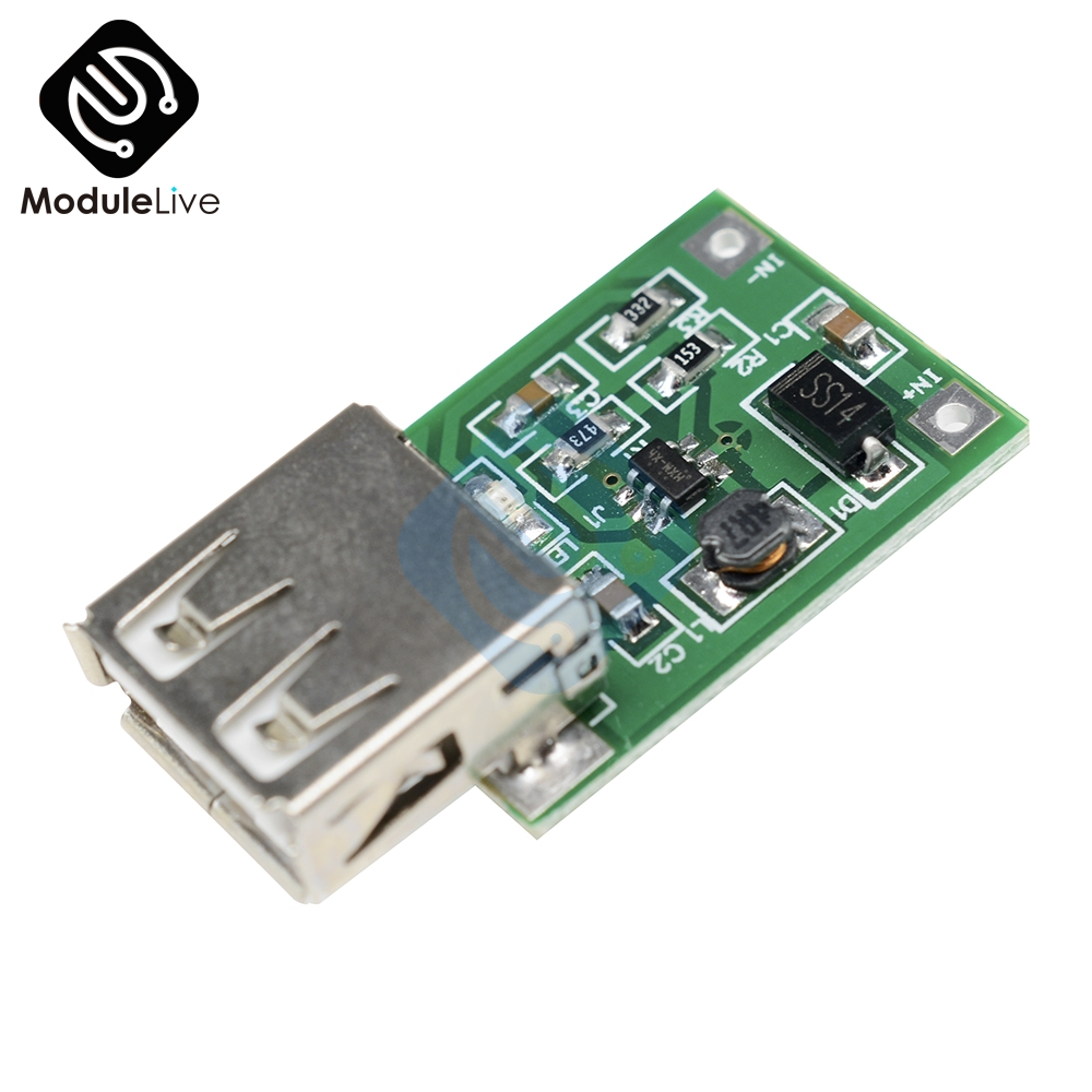 5pcs USB Output Boost Converter Mini DC-DC Step Up Power Supply Board Module Lithium Battery Charger Board DC 0.9-5V 600MA