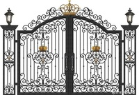Aluminium Gates Driveway Gates Wrought Iron Gates Forged Iron Gates Hench 24