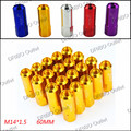 M14x1.5 New OTO R 60mm M14*1.5 Wheel Nuts New 20PCS Racing Lug Wheel Nuts Screw / Aluminum