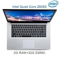"""זמינה עבור לבחור 2G RAM 32G eMMC Intel Atom Z8350 15.6"""" מחברת משחקים ניידת מקלדת OS שפה זמינה כסף P2-01 עבור לבחור (1)"""